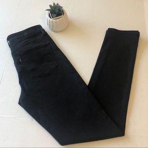 black Levis High Rise Skinny jeans